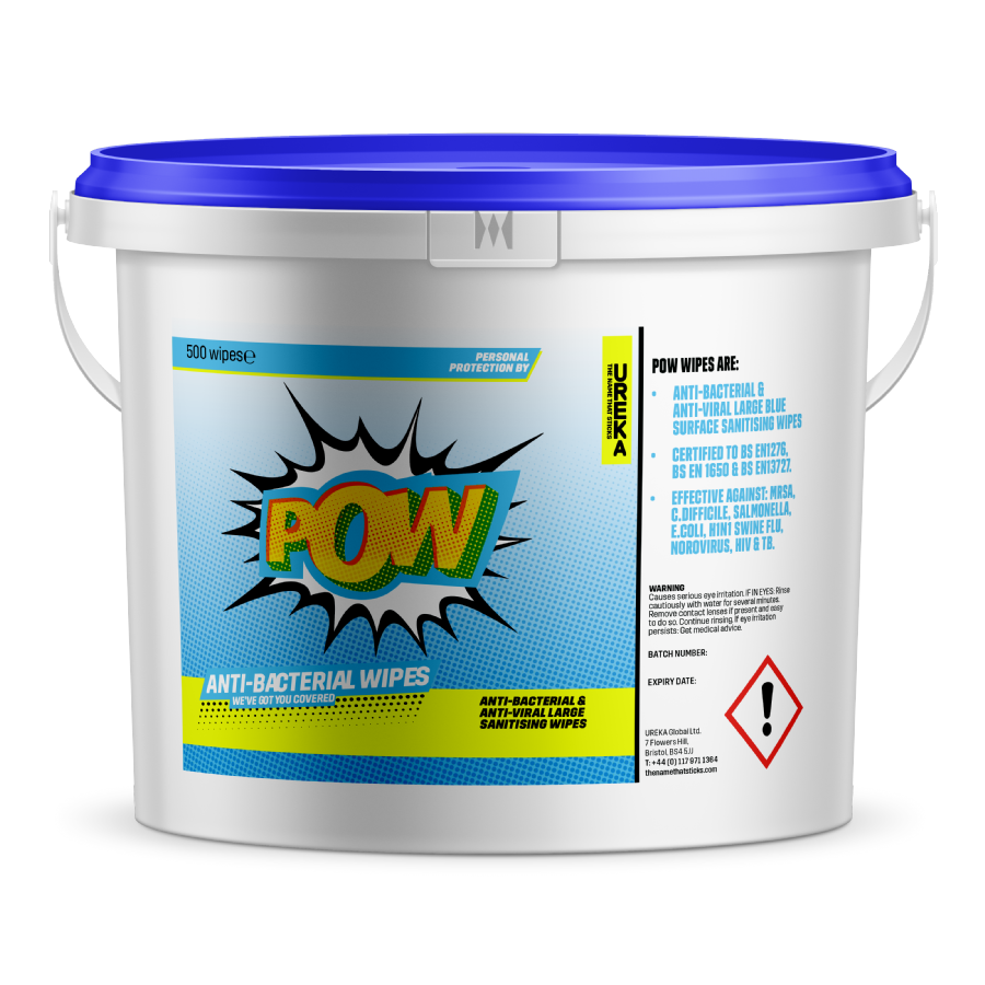 POW Anti-Bacterial Cleaning Wipes
